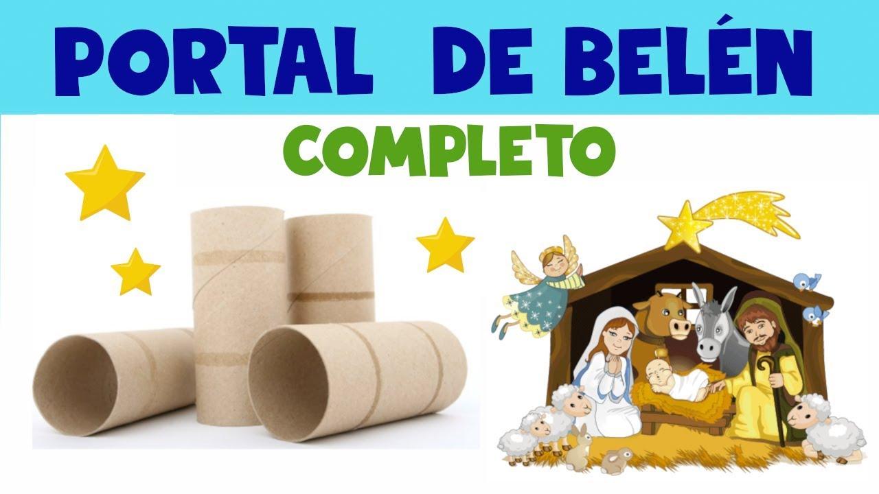 Manualidades De Navidad Portal De Belén Reciclaje Diy Youtube