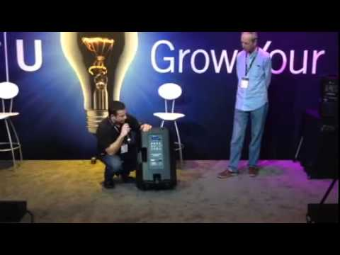 Epsilon AirLink-10 and AirLink-15 Speaker Series Demo NAMM 2015