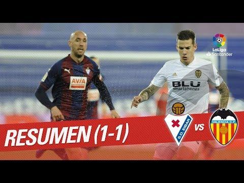 Resumen de SD Eibar vs Valencia CF (1-1)