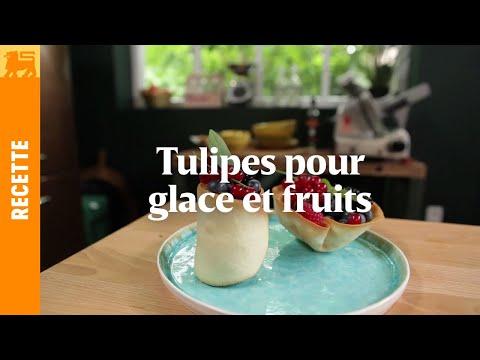 Tulipes pour glace et fruits