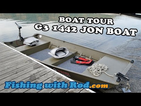 G3 1442 JON BOAT TOUR | Fishing With Rod