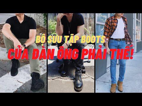 Tổng hợp COLLECTION giày BOOTS của ĐÀN ÔNG PHẢI THẾ   CÁCH PHỐI ĐỒ VỚI BOOTS   THỜI TRANG ĐÀN ÔNG