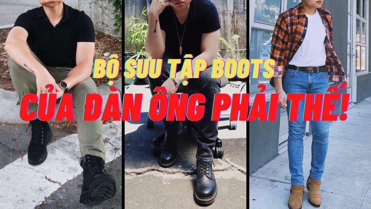 Tổng hợp COLLECTION giày BOOTS của ĐÀN ÔNG PHẢI THẾ   CÁCH PHỐI ĐỒ VỚI BOOTS   THỜI TRANG ĐÀN ÔNG   Tổng hợp những thông tin liên quan đến giay da thoi trang nam chi tiết