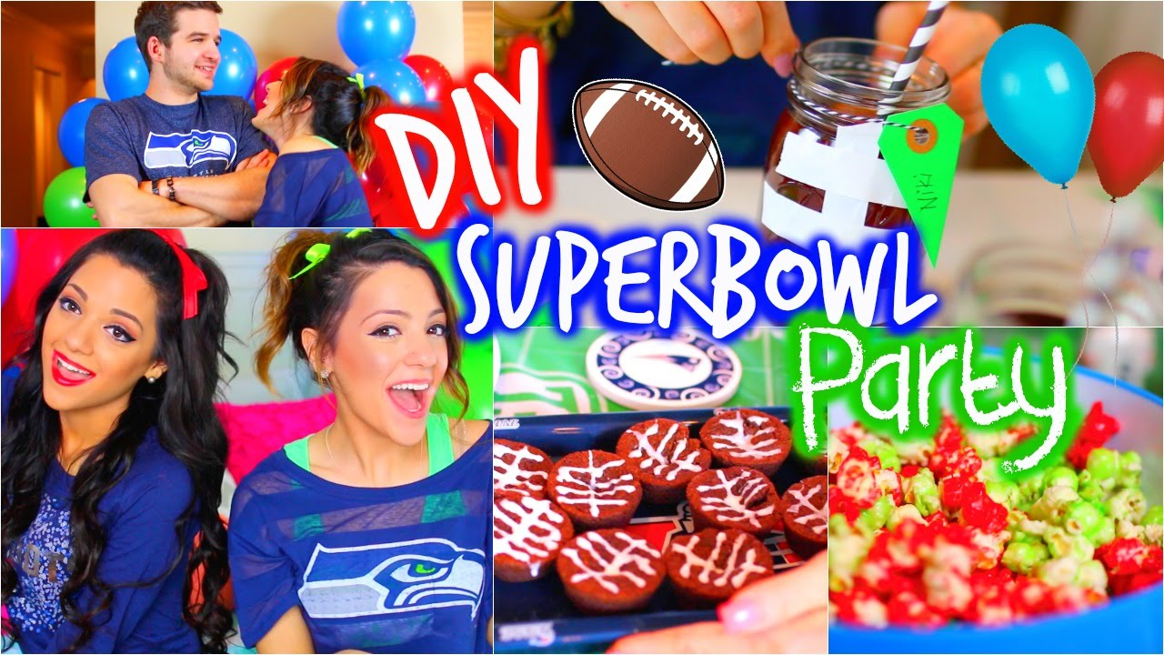 Diy Super Bowl Party Decor Treats Outfits Essentials Youtube