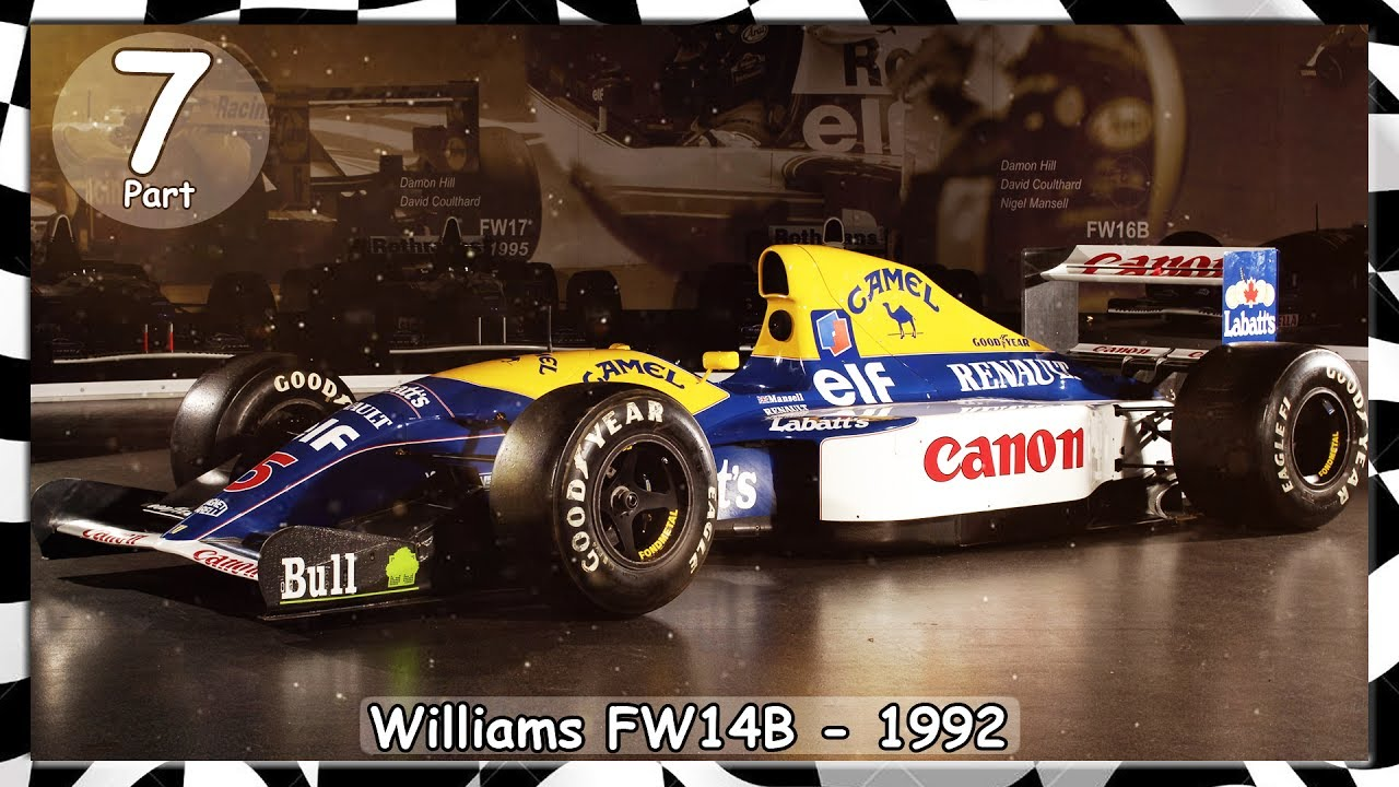 nigel mansell williams fw14b 1992 formel 1 rennwagen. Black Bedroom Furniture Sets. Home Design Ideas