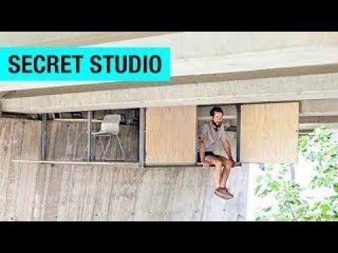 A Secret Studio Build Beneath A Busy Bridge In Valencia By - Designer builds a secret studio beneath a busy bridge in valencia