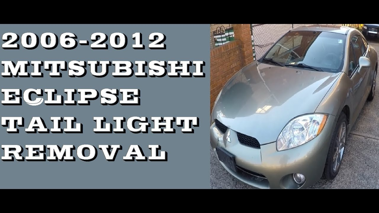 replace Tail lights and bulbs in Mitsubishi Eclipse 06-12 ...