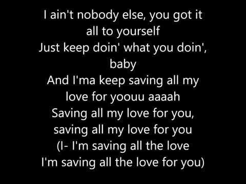 Sevyn Streeter - My Love For You ( Lyrics )