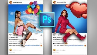 Instagram 3D Pop Out Photo Effects Photoshop Tutorial  | After Effects Animation