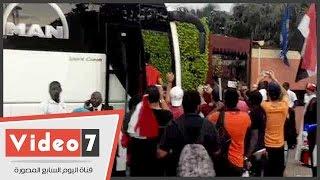 شاهد تحرك المنتخب المصرى لملعب بورت جنتيل لمواجهة مالى