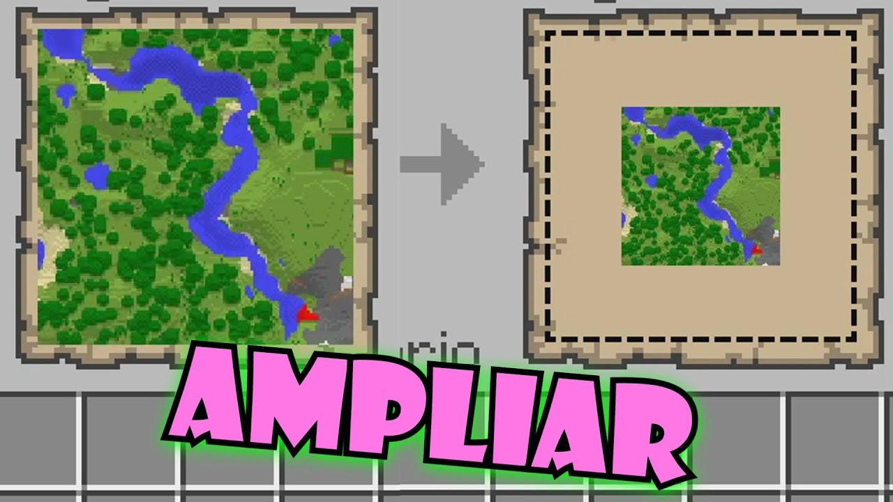 Como Agrandar Un Mapa Hasta El Nivel 4 En Minecraft 1 16 Shorts Youtube