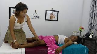 Traditional Leg Massage To Reduce Pain And Relieving Stress Therapy Massage In New Year