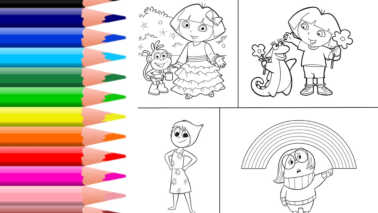 Learn Colors For Kids And Color Dora Coloring Page The Explorer Book