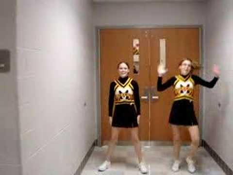 Cheerleading stunts included