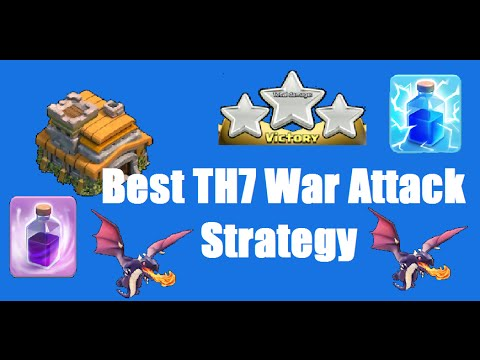BEST Town Hall 7 (TH 7) Clan Wars Attack Strategy - Clash of Clans: Hey guys! Today I wanted to bring you my best and favorite clash of clans town hall 7 (th 7) clan wars attack strategy. I have used this clan wars attack strategy in wars on my town hall 7 account for a long time now, and I can say that all dragons is honestly the best way to go to get those stars. Though it costs a lot of elixer it will be easy to make it back once you win the war with this great strategy! Tell me in the comments if you tried it out and how it went for you.  Stay Awesome, John