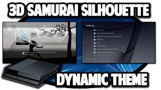 [PS4 THEMES] 3D Samurai Silhouette Meditation Dynamic Theme Video in 60FPS