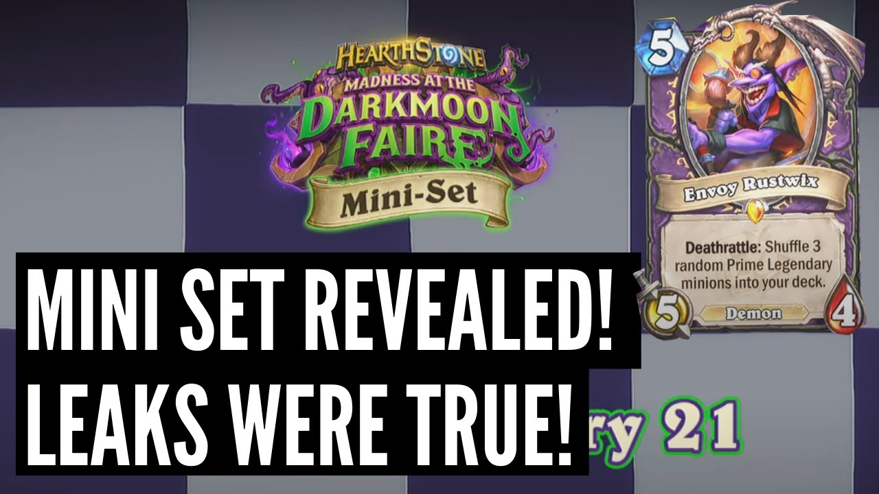Darkmoon Races Mini-Set Revealed! Full details and first cards reviewed!   Hearthstone