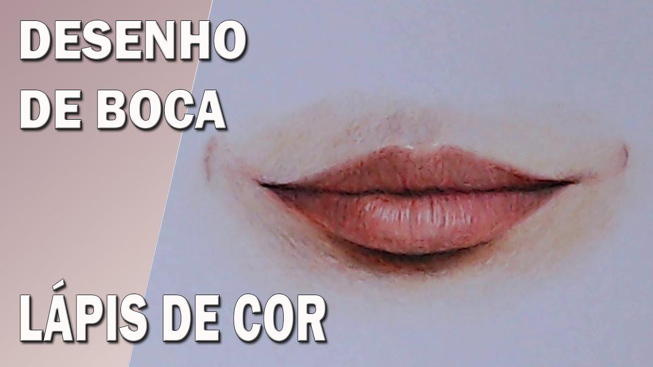 Desenho De Boca Realista Com Lapis De Cor Drawing A Mouth Youtube