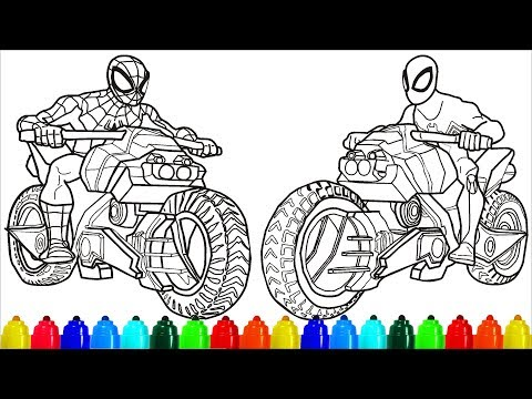 5300 Top Spiderman Bike Coloring Pages Images & Pictures In HD