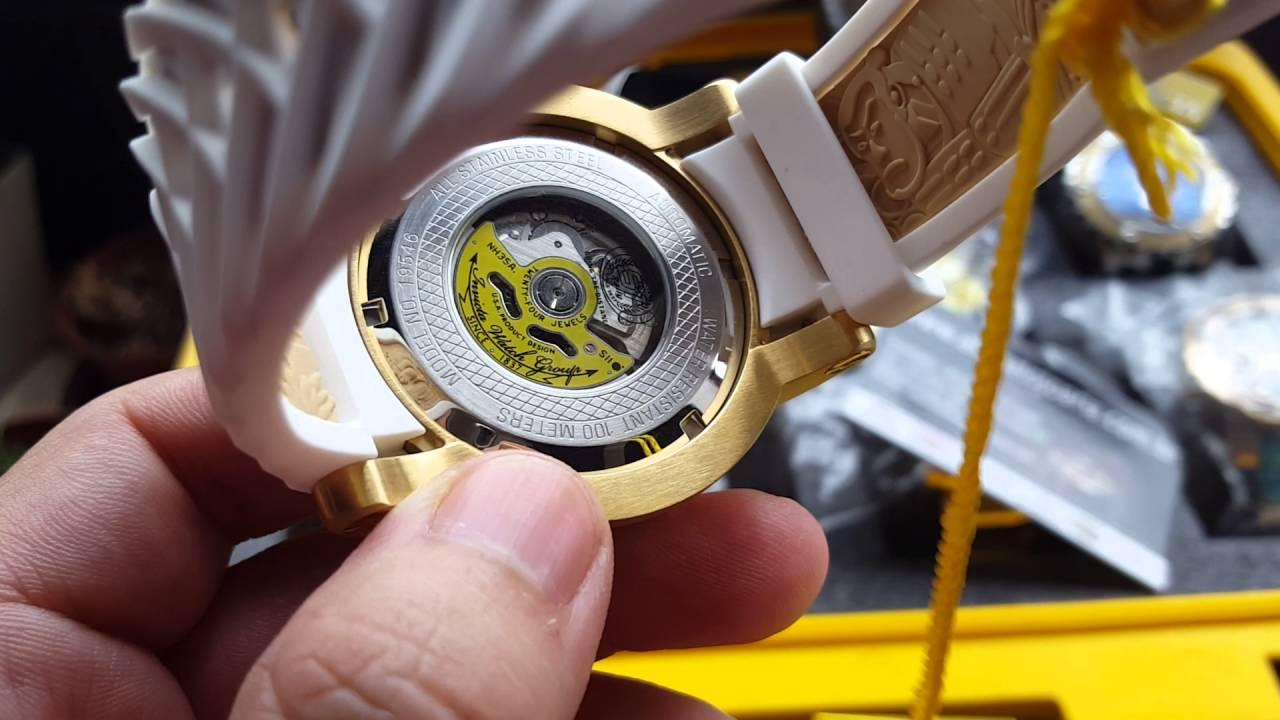 2da9228e8cf Relógio invicta yakuza 19546 original pulseira branca automático nh35a
