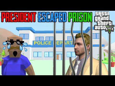PRESIDENT ESCAPED PRISON | Sasti GTA V | Dude Theft Wars | Tecnoji Gamer