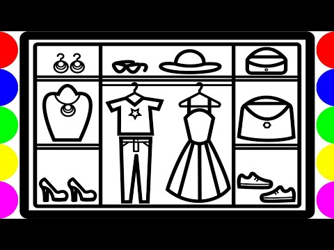 Fashion Closet Wardrobe Drawing Pictures | Easy Coloring For Kids Art | Jolly Toy