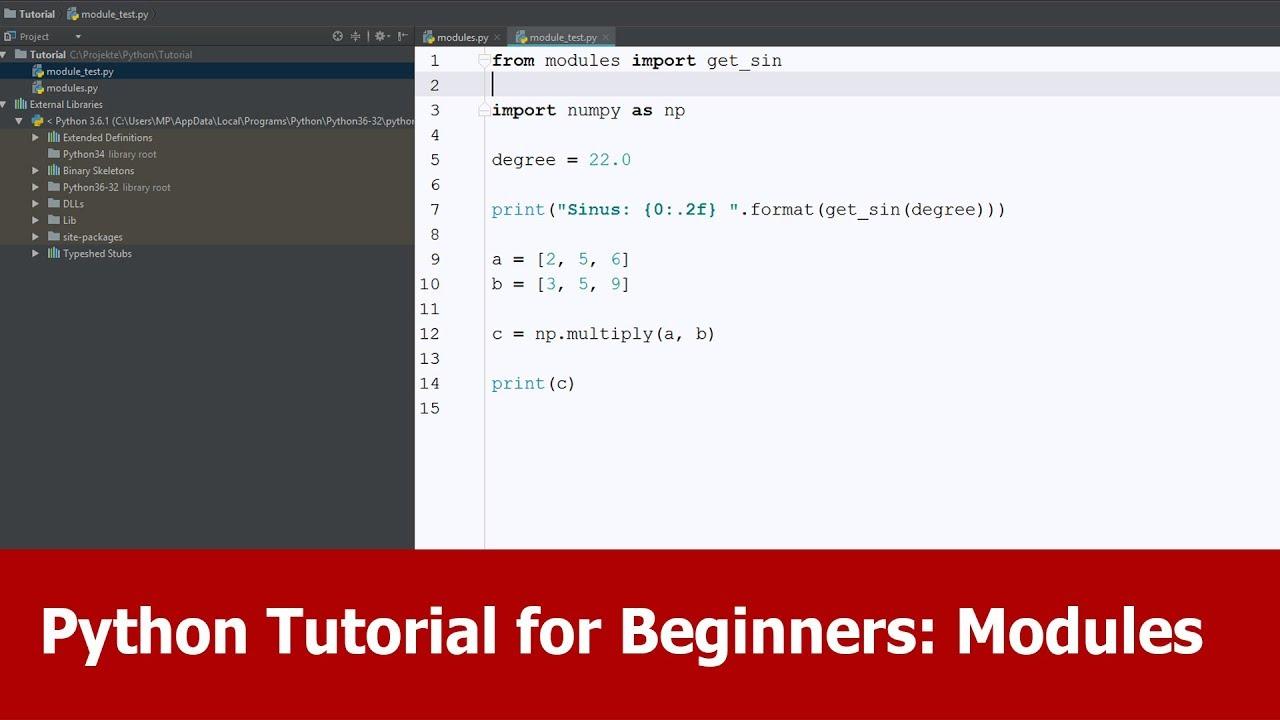 Python Tutorial Modules