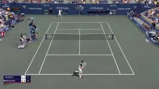 Tennis Elbow 2013 - Roddick vs Grosjean @ US Open 2003