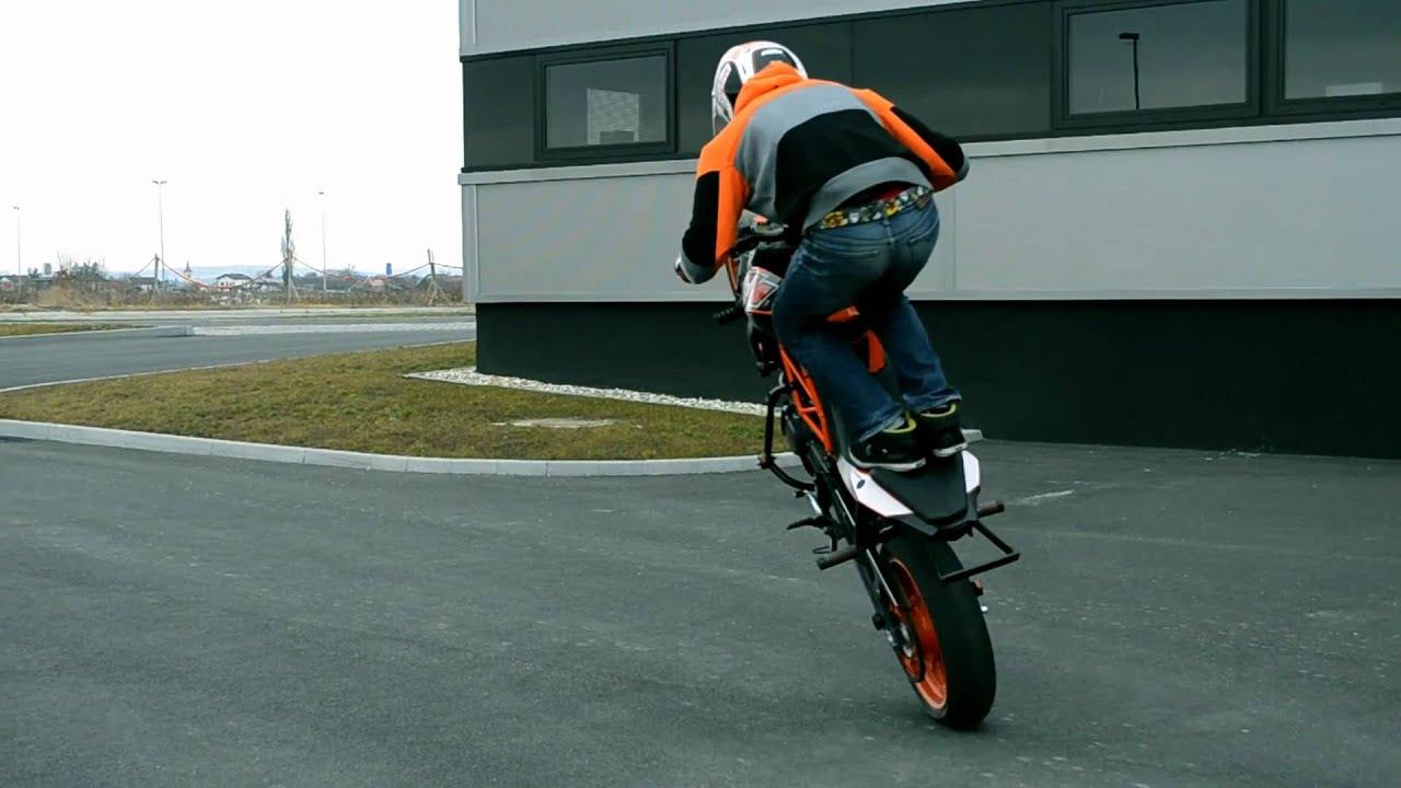 Rok Bagoros Stunt Training In Pre Season With KTM Duke 125 Ktm 2011