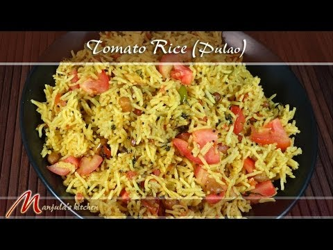 Tomato Rice - Pulao Recipe by Manjula
