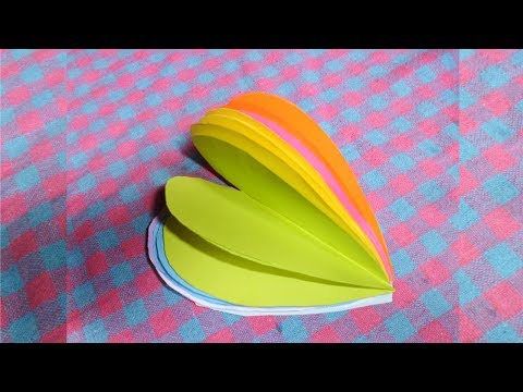 How to Make a Heart Shaped Book - DIY - Paper Craft