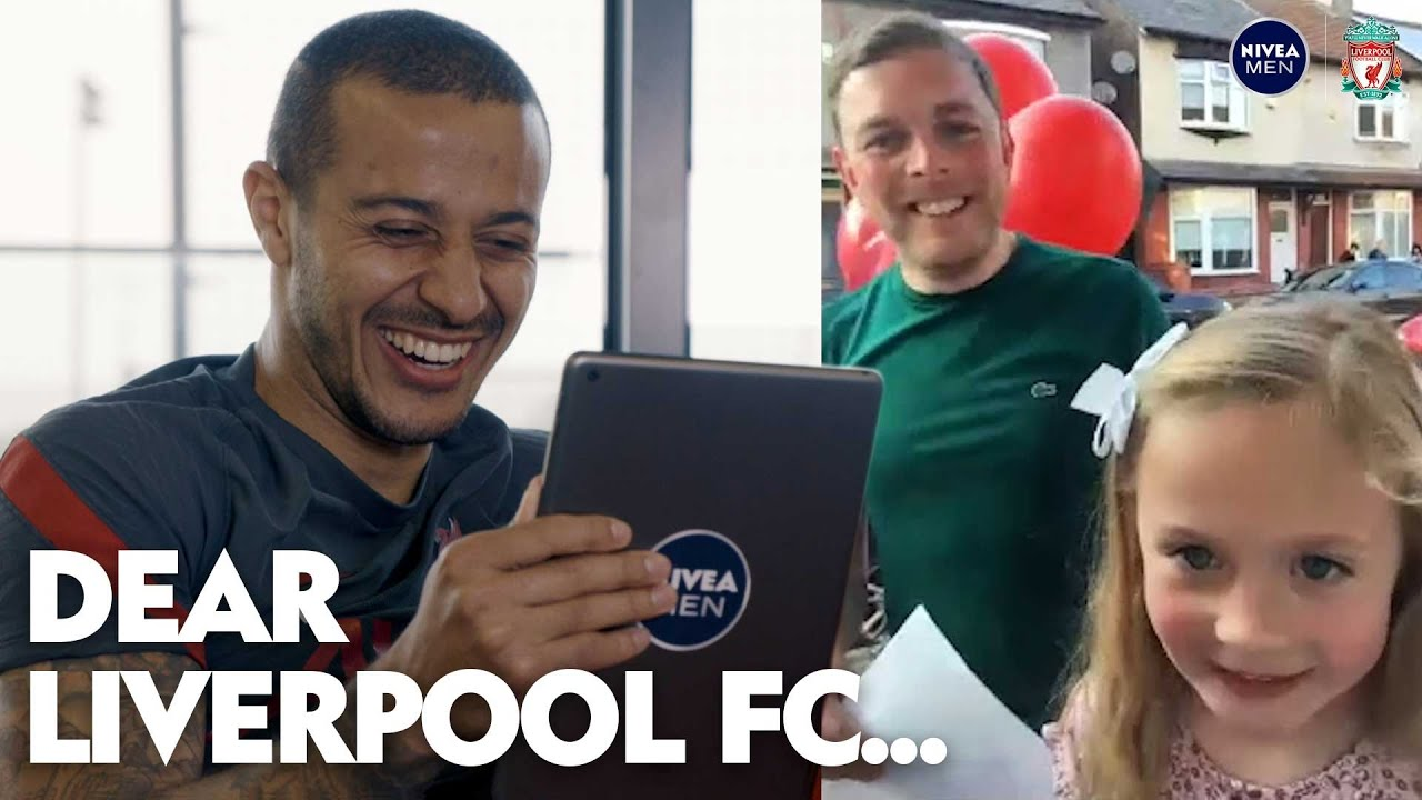 'He's a bit nervous!' | Thiago's amazing surprise for lifelong Liverpool fan after daughter's call