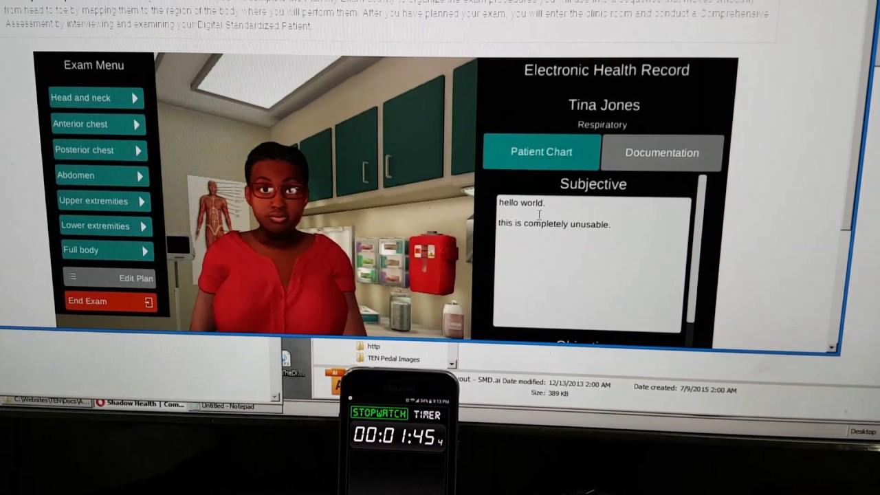 wgu    shadow health nursing assessment application latency