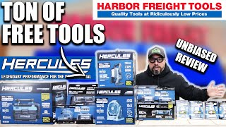 HARBOR FREIGHT Sent Uṡ A TON of FREE Hercules Tools for UNBIASED REVIEW!