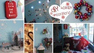 ❄7 Diy Holiday Decorations- Easy, Fun & Affordable!❄ (craftmas)