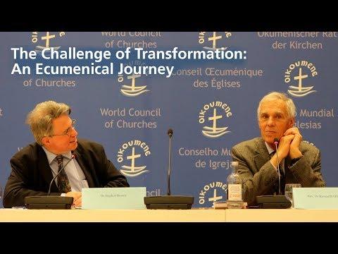 "WCC Publications: Konrad Raiser and Stephen G. Brown discuss ""Challenge of Transformation"""
