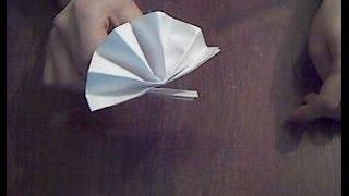 Веер из бумаги оригами  Fan of paper Origami