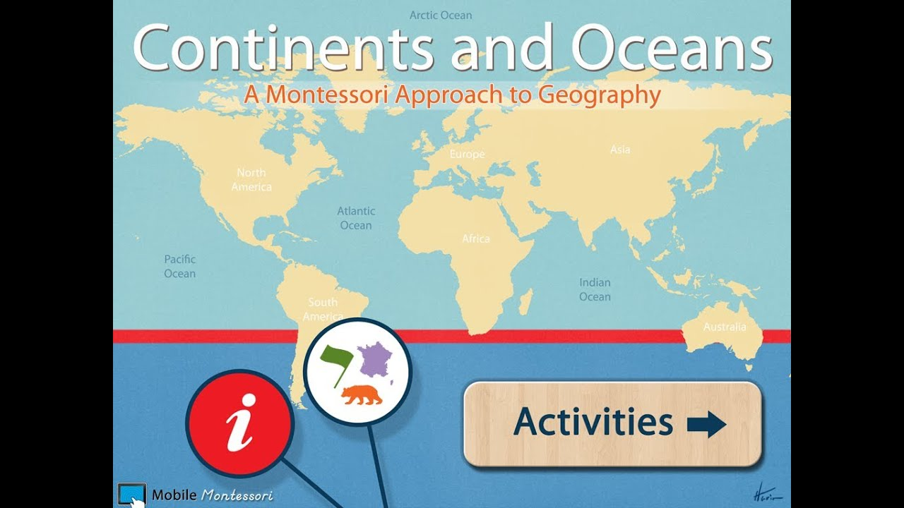 World Continents And Oceans YouTube - World map oceans continents