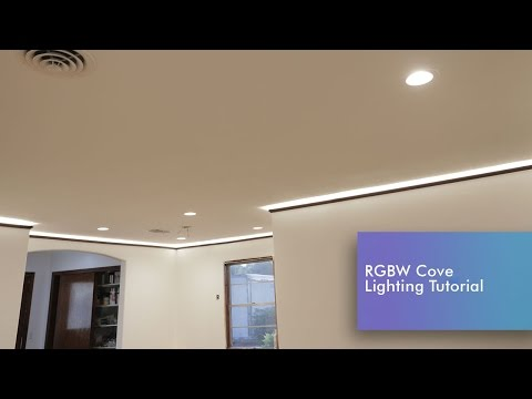 Led Cove Lighting Install Rgbw Tutorial