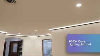 LED Strip Cove Lighting Install RGBW Tutorial