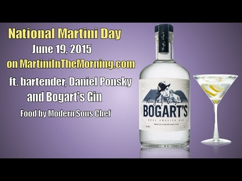 Celebrating Martini Day on Martini In The Morning with Bogart's Gin