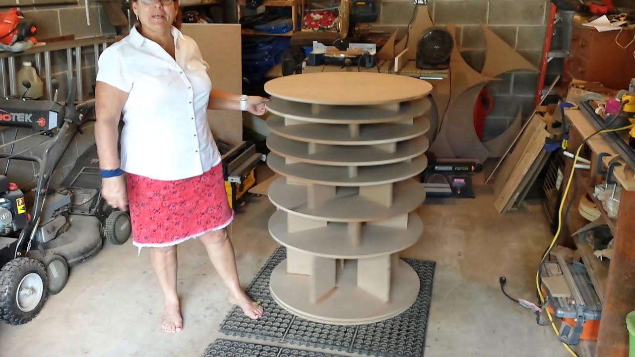 cool garage ideas diy - Spinning Shoe Rack