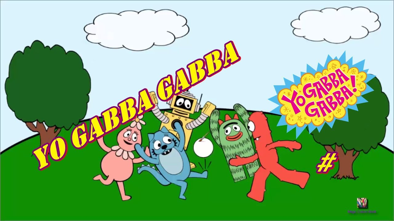 For kids yo gabba gabba coloring book coloring pages - YouTube