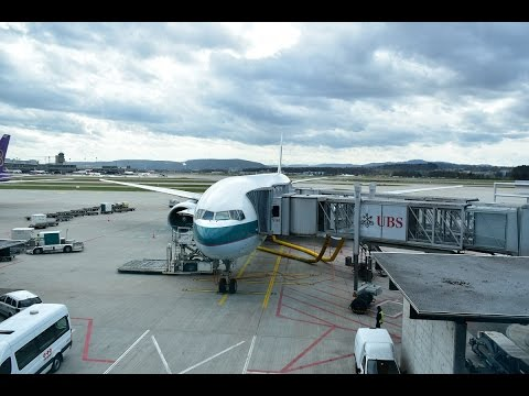 Flight Review #4 CPA Cathay Pacific CX382 Zurich to Hong Kong Boeing 777-300ER Business Class