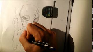 Speed Drawing Paul the Alien
