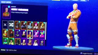 FORTNITE TRADING GINGERBREAD MAN SKIN XBOX/PC