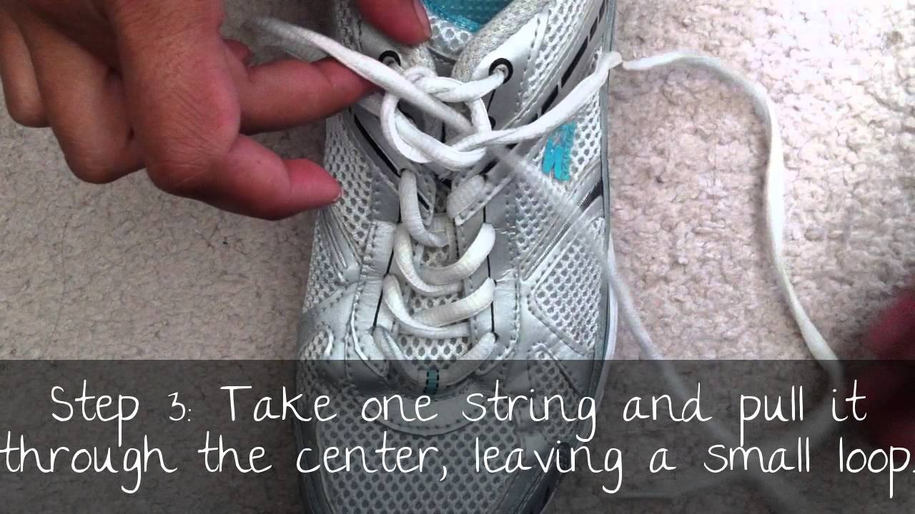 different way to tie shoes easy for