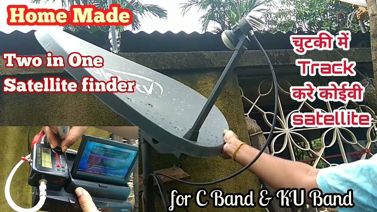 hight resolution of home made two in one satellite finder for any c band ku band satellite