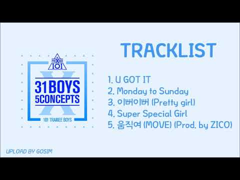 [Full ALbum] PRODUCE X 101 (프로듀스 X 101) - 31 Boys 5 Concepts