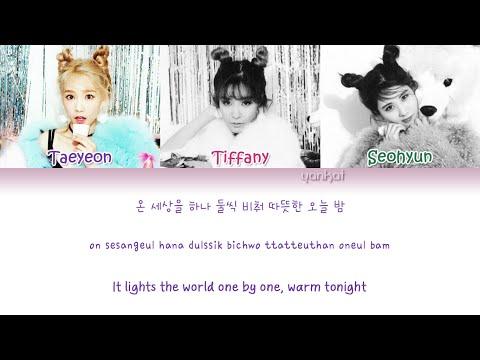 Girls' Generation-TTS (소녀시대-태티서) - Merry Christmas (Color Coded Han Rom Eng Lyrics)   by Yankat